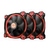 Kit 3 Coolers Fan Thermaltake Cl-F055-Pl12re-A Tt Riing 120Mm Led Vermelho