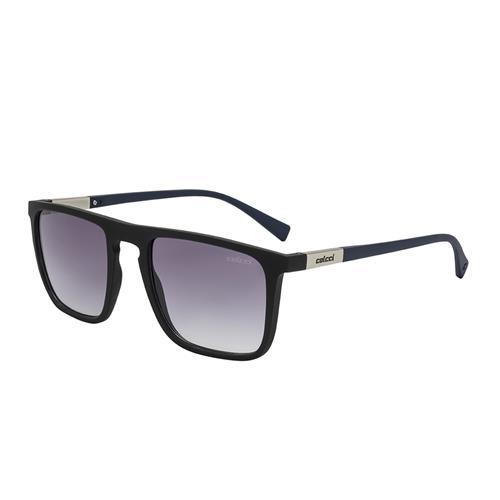 07df5e819 Óculos De Sol Colcci C0130 Martin Preto Haste Azul Lente Cinza na ...