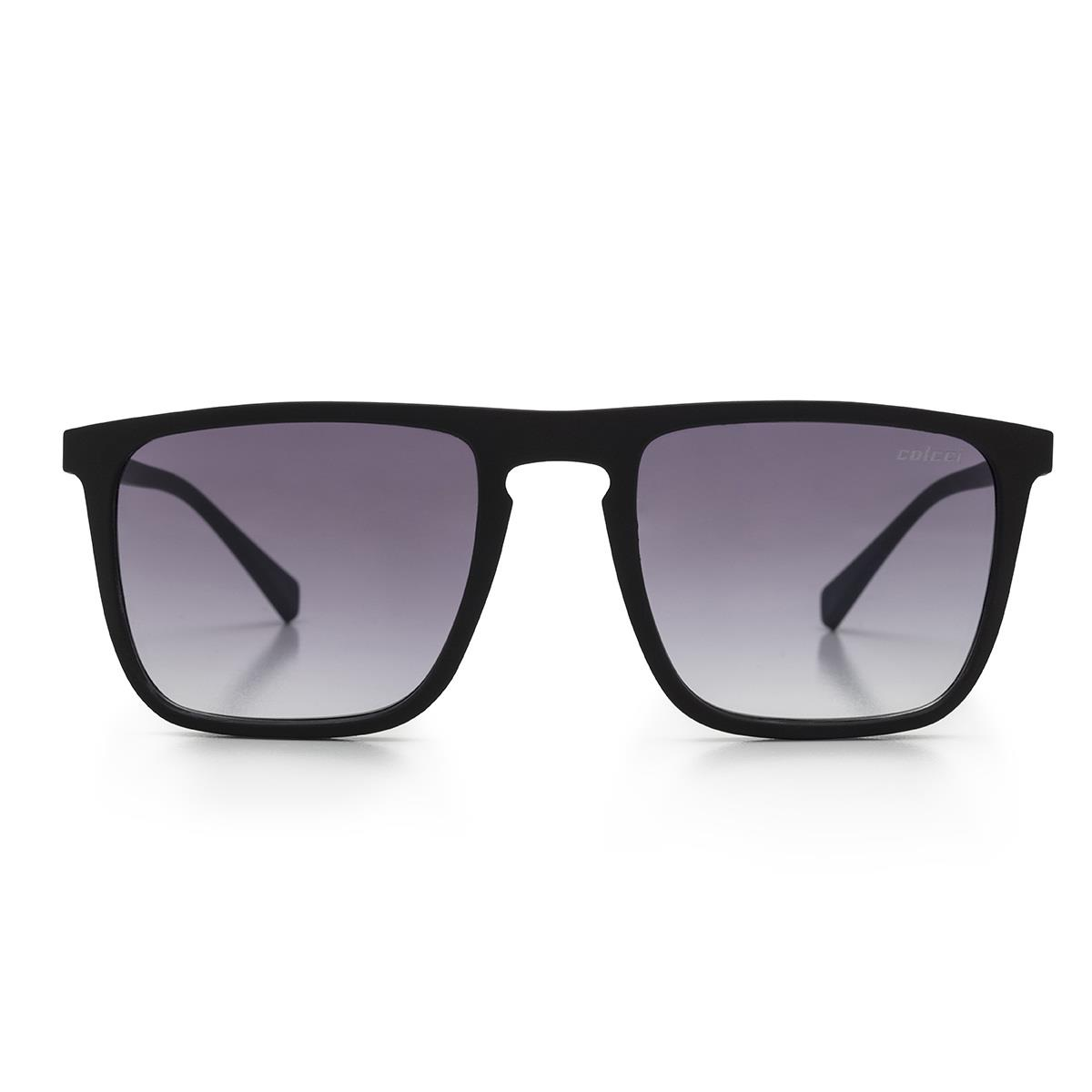 f81a674cf Óculos De Sol Colcci C0130 Martin Preto Haste Azul Lente Cinza na Estrela10
