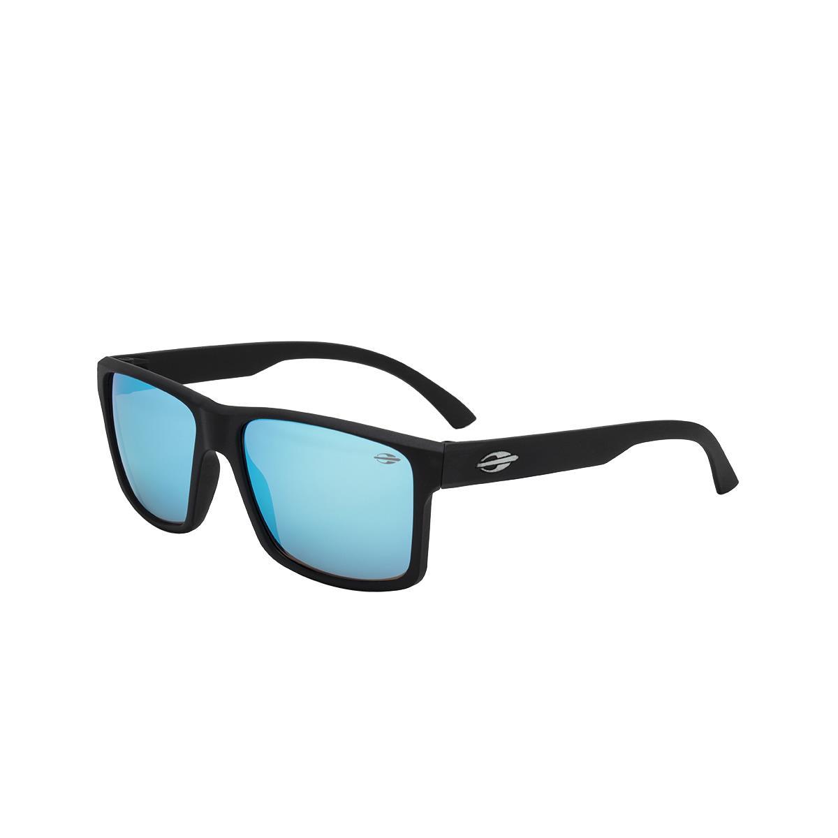 2de91e676 Óculos De Sol Mormaii M0074A1497 Lagos Preto Fosco Lente Azul na Estrela10