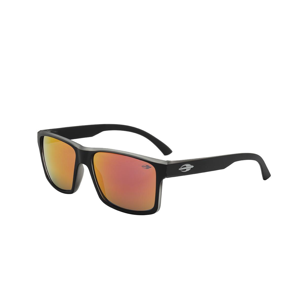 22dd6fe00 Óculos De Sol Mormaii M0074A8711 Lagos Preto Fosco Lente Vermelha na  Estrela10