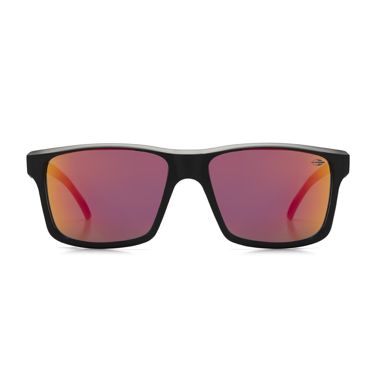 5c8e9b0e25d1b Óculos De Sol Mormaii M0074A8711 Lagos Preto Fosco Lente Vermelha na  Estrela10