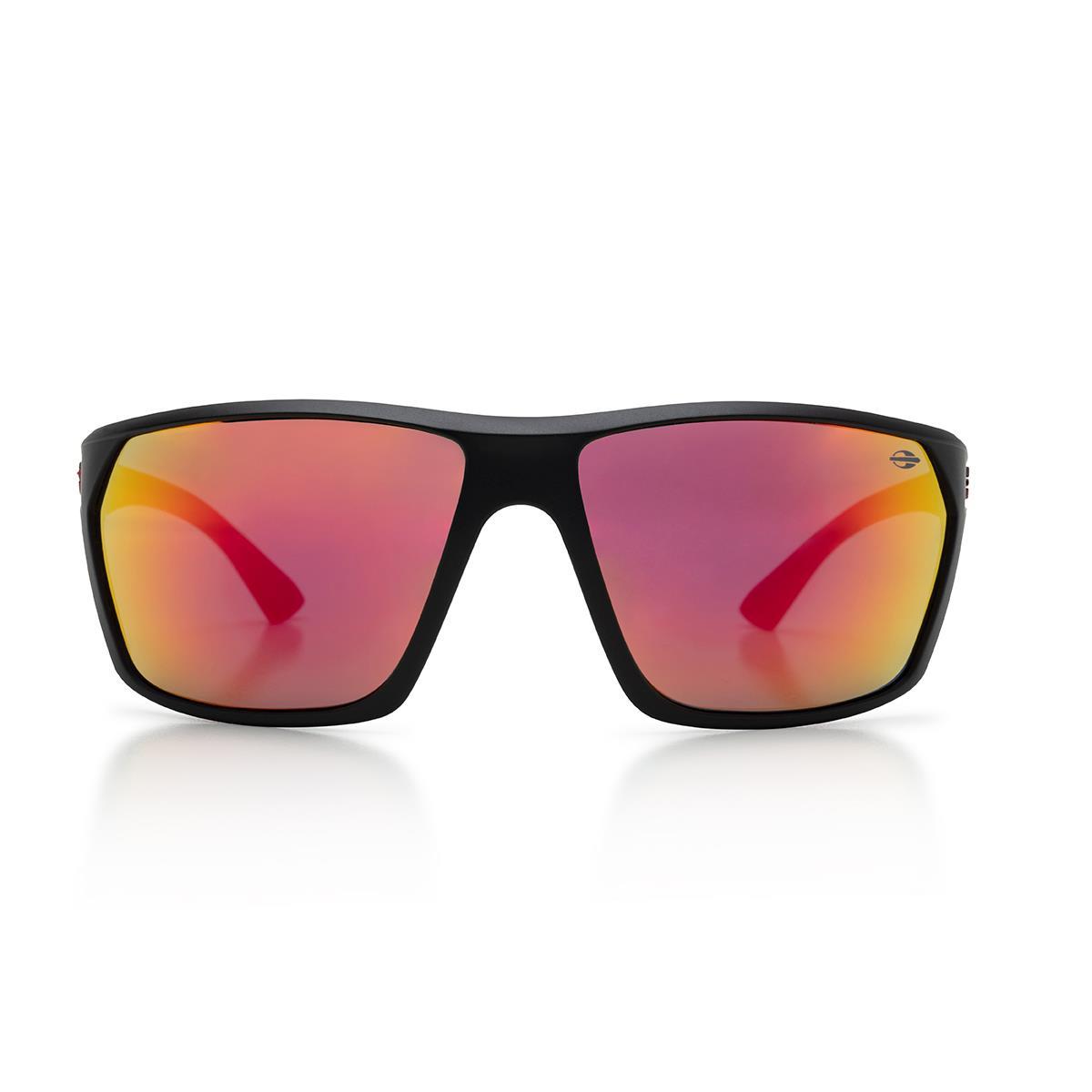 aa29d9c5e9d18 Óculos De Sol Mormaii M0079A1411 Storm Preto Fosco Lente Vermelha na  Estrela10