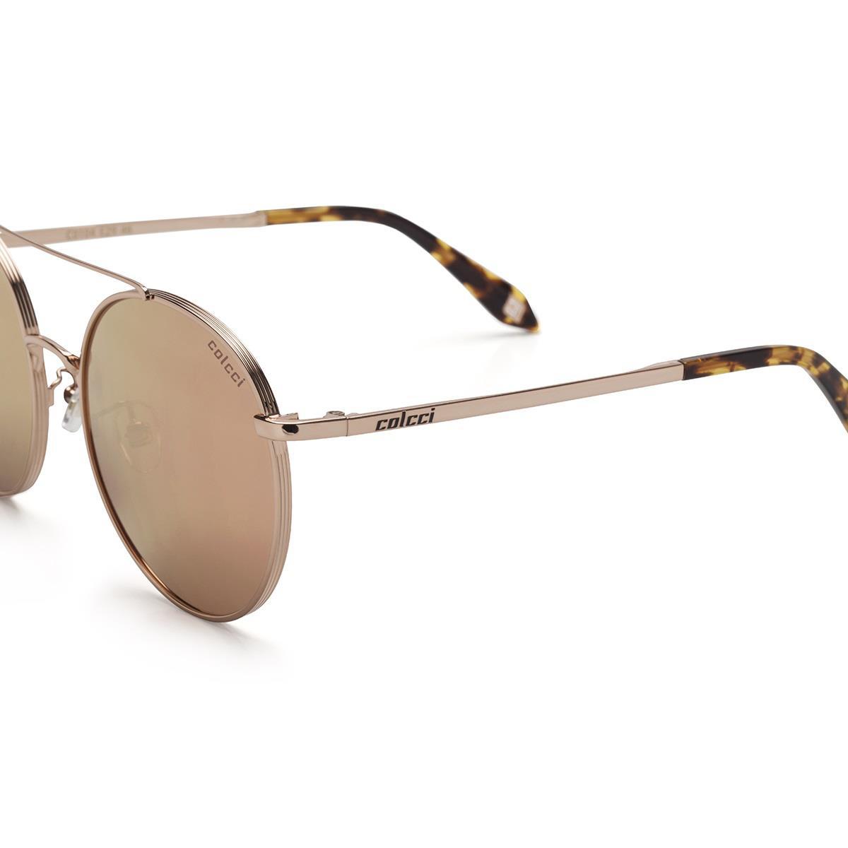 2a1a283c2 Óculos De Sol Colcci C0104 Lente Marrom Revo Rose Gold na Estrela10