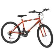 Bicicleta Ultra Bikes Chrome Line Aro 24 18 Marchas Laranja