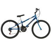 Bicicleta Ultra Bikes Chrome Line Rebaixada Aro 24 18 Marchas Azul