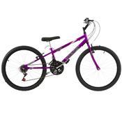 Bicicleta Rebaixada Ultra Bikes Aro 24 18 Marchas Lilás