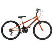 Bicicleta Rebaixada Ultra Bikes Chrome Line Aro 24 18 Marchas Laranja