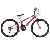 Bicicleta Rebaixada Ultra Bikes Chrome Line Aro 24 18 Marchas Pink