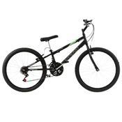 Bicicleta Rebaixada Ultra Bikes Aro 24 18 Marchas Preta Fosca