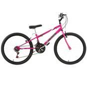 Bicicleta Rebaixada Ultra Bikes Aro 24 18 Marchas Rosa