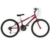 Bicicleta Rebaixada Ultra Bikes Aro 24 18 Marchas Vermelha