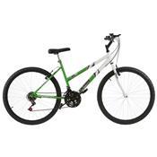 Bicicleta Feminina Ultra Bikes Bicolor Aro 24 18 Marchas Verde Kw/Branca