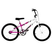 Bicicleta Rebaixada Ultra Bikes Bicolor Aro 20 Rosa E Branca