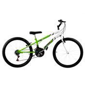 Bicicleta Rebaixada Ultra Bikes Bicolor Aro 24 18 Marchas Verde Kw/Branca