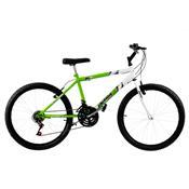 Bicicleta Ultra Bikes Bicolor Aro 24 18 Marchas Verde Kw E Branca