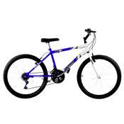 Bicicleta Ultra Bikes Bicolor Aro 26 18 Marchas Azul E Branca