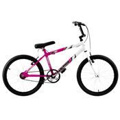 Bicicleta Ultra Bikes Bicolor Aro 20 Rosa E Branca