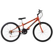 Bicicleta Rebaixada Ultra Bikes Chrome Line Aro 26 18 Marchas Laranja