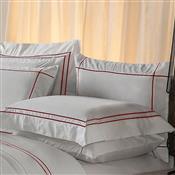 Fronha Avulsa Plumasul Premium Harmonious 50X150cm Branca/Vermelho
