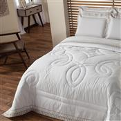 Edredom Solteiro Plumasul Luxury Percal 230 Fios 160X220cm Branco