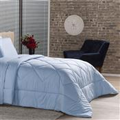 Edredom Solteiro Plumasul Premium Percal 230 Fios 160X220cm Azul
