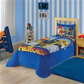 Colcha Solteiro Lepper Matelassê Patrulha Canina 150X210cm Azul