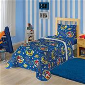 Edredom Solteiro Lepper Patrulha Canina 150X220cm Azul
