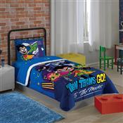 Edredom Solteiro Lepper Teen Titans Go 150X200cm Azul