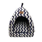 Cabana Para Cães E Gatos Fábrica Pet França Tricoline Azul