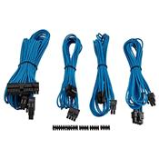 Kit 4 Cabos Para Fonte Corsair CP-8920147 Sleeved Azul