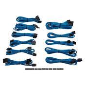 Kit 15 Cabos Para Fonte Corsair Cp-8920154 Sleeved Azul