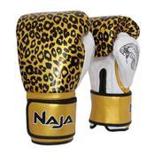 Luvas De Boxe E Muay Thai Naja Animal Print Onça Dourada