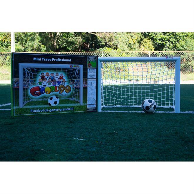 1b67118e9 Mini Trave De Futebol Profissional Fácil Esporte Gool 90 Branca. Ampliar