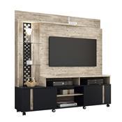Estante Home Theater Para Tv 55 Pol Hb Móveis Vitral Aspen/Preto
