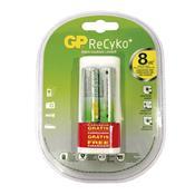 Kit 2 Pilhas Aa Gp Batteries 2000Mah Recarregável Carregador Usb