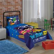 Jogo De Cama Solteiro Lepper Teen Titans Go 2 Pçs Azul