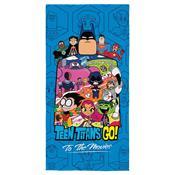 Toalha De Praia Aveludada Lepper Teen Titans Go Transfer Azul