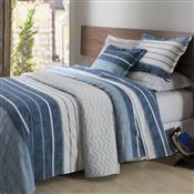 Jogo De Cama Queen Corttex Jon Home Design 4 Pçs 200 Fios Azul