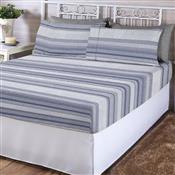 Jogo De Cama Queen Corttex Adrian Home Design 4 Pçs 200 Fios Azul