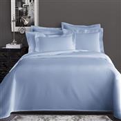 Jogo De Cama Queen Corttex Home Design Liso 4 Peças 200 Fios Azul