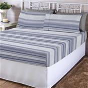 Jogo De Cama King Corttex Adrian Home Design 4 Peças 200 Fios Azul