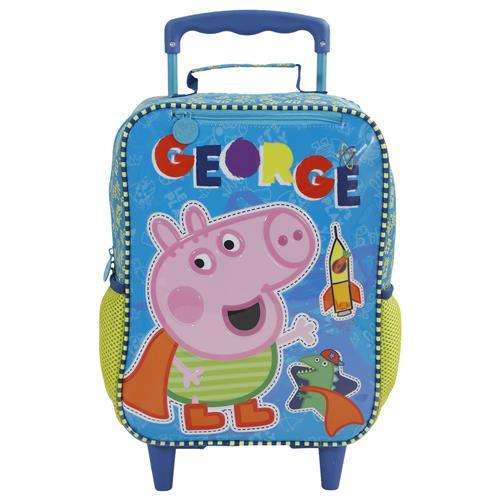 Mochila Escolar Xeryus 14 Pol George Da Peppa Pig Com Rodas Na