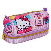 Estojo Escolar Infantil Xeryus Hello Kitty Washi Pink Duplo