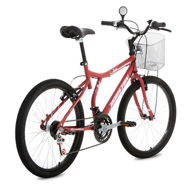 dc375a85d Bicicleta Aro 24 Houston Bristol Peak Com Cesta 21 Marchas Vermelho. Ampliar