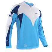 Camisa Ciclismo Ultra Bikes Max Dry Manga Longa Tam Gg Azul/Branca