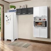 Cozinha Compacta Bertolini Múltipla 7 Portas Branca E Preta