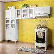 Cozinha Compacta Bertolini Múltipla 11 Portas Branca Com Vidro