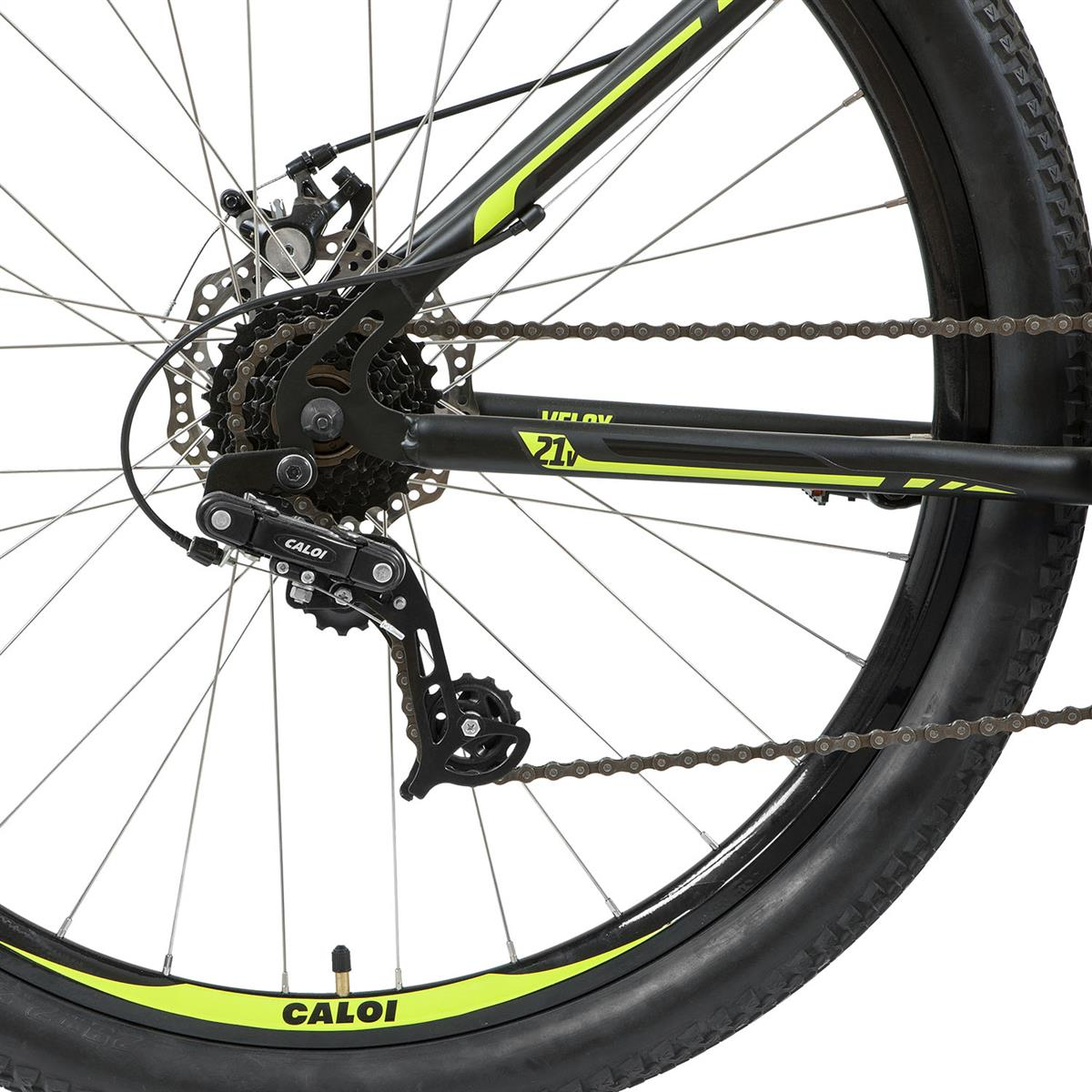 ac5ec46cb Bicicleta Mountain Bike Caloi Velox 21 Marchas Aro 29 Preta Amarela na  Estrela10
