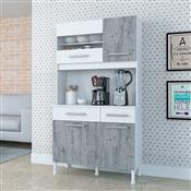 Cozinha Compacta Atualle Criative Anápolis Branca/Vanilla Rústica